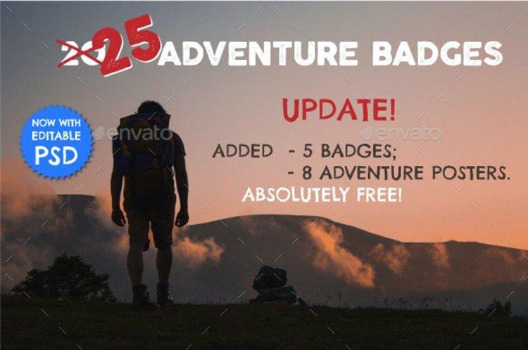 25 Adventure Badges & Logo