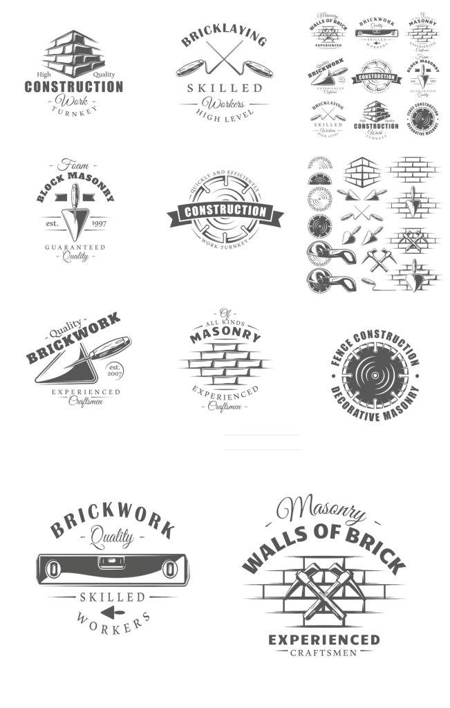 9 Construction Logos Templates Vol.2 1