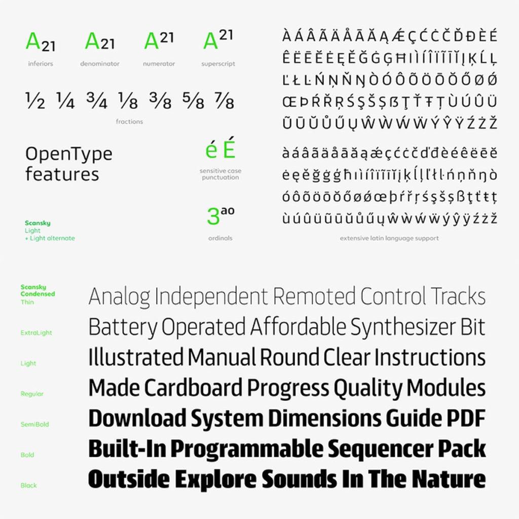 Scansky Font Family Free Download