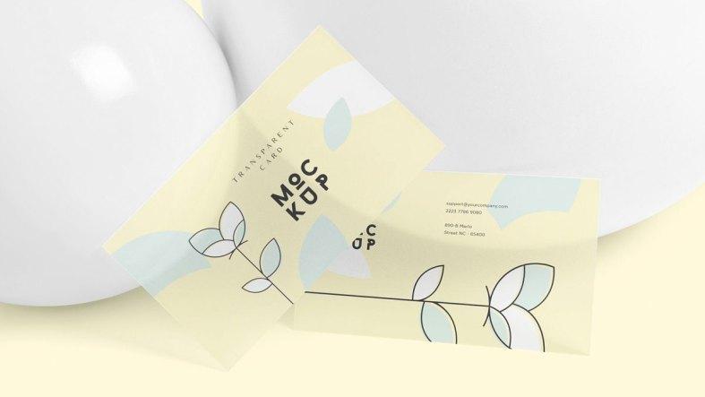Transparent Card Branding Mockups 4646661