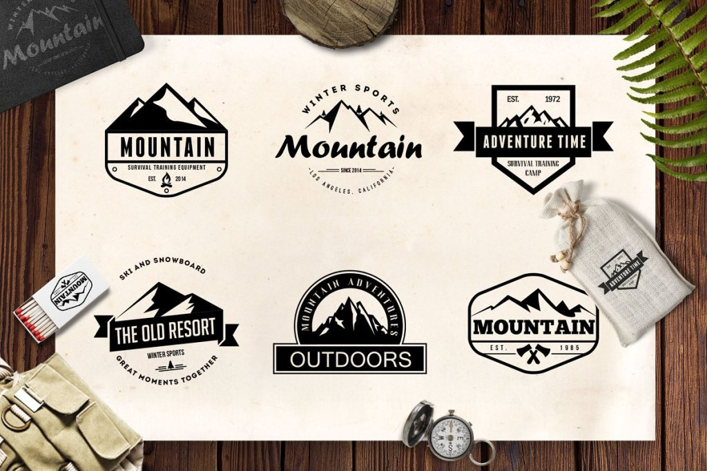 mountain vintage badges rev2