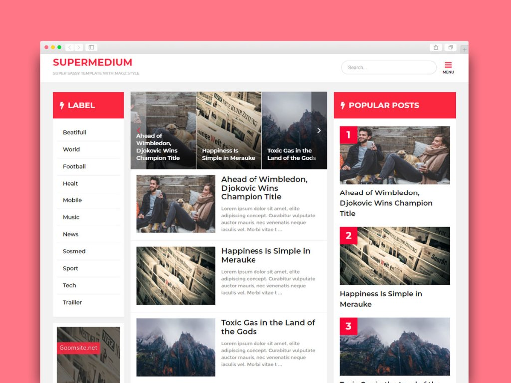 10 Best Free Material Design Blogger Template