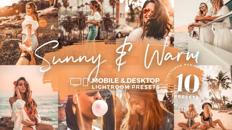 10 Sunny & Warm Mobile Presets 5142982