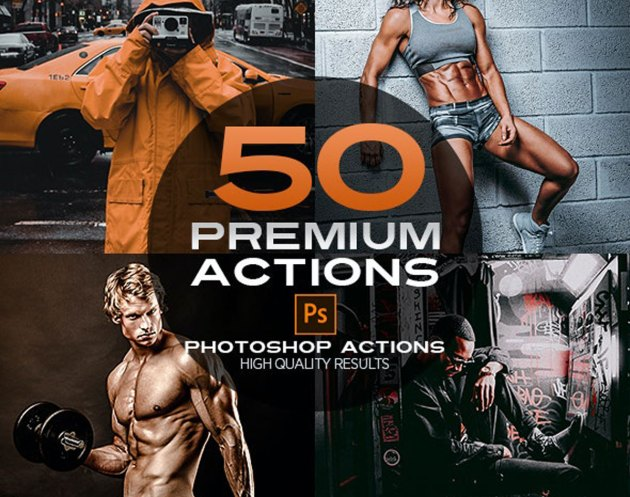 50 Premium Photoshop Actions 26605057