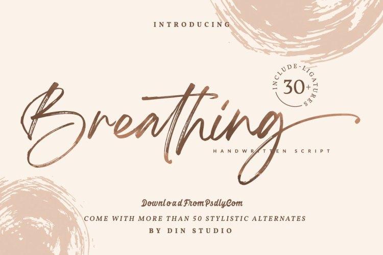 Breathing - Brush Signature Font