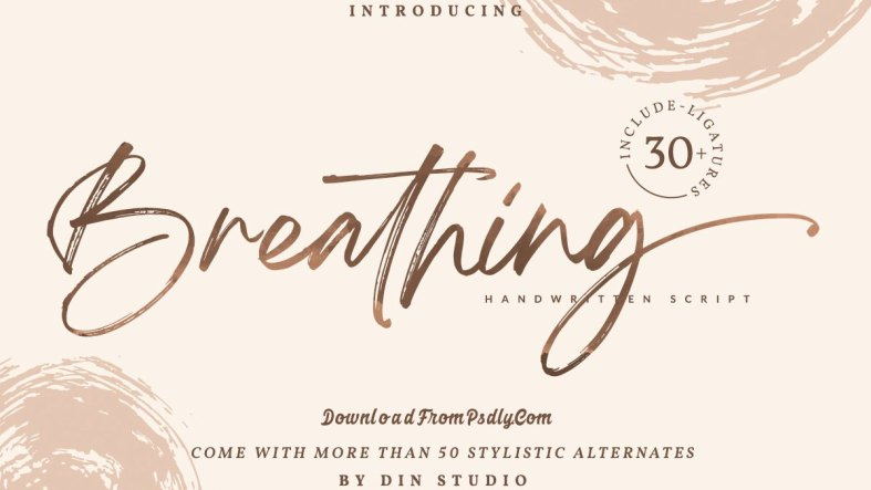 Breathing - Brush Signature Font