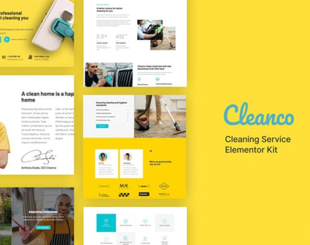 Cleanco - Cleaning Service Company Template Kit 27666074