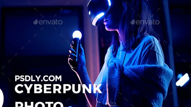 Cyberpunk Photoshop Template V2 27643757
