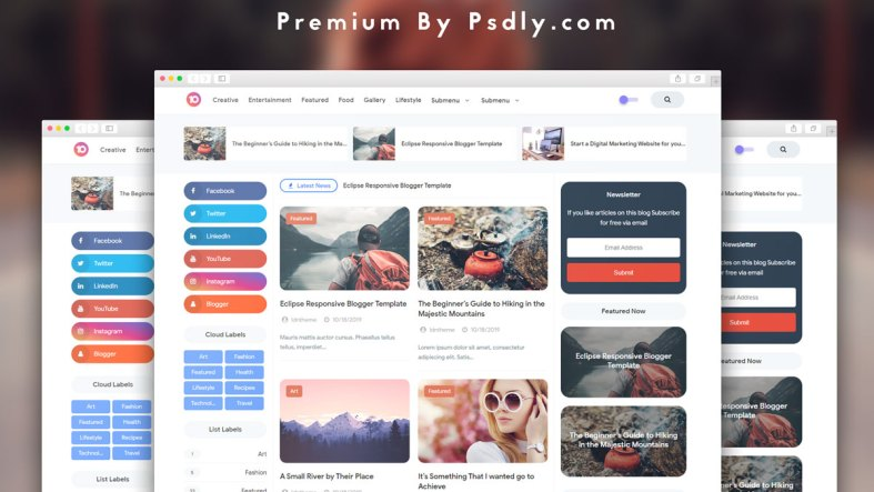 Eclipse Responsive Blogger Template Free Download