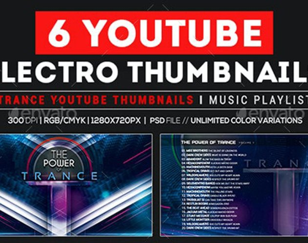 GraphicRiver - Youtube Thumbnail Templates - Trance Music Playlist Promote Artist 26937031