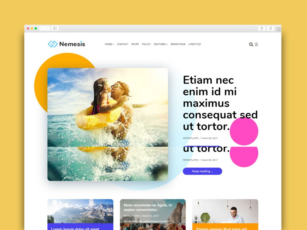 Material Design Blogger Template Free 2020
