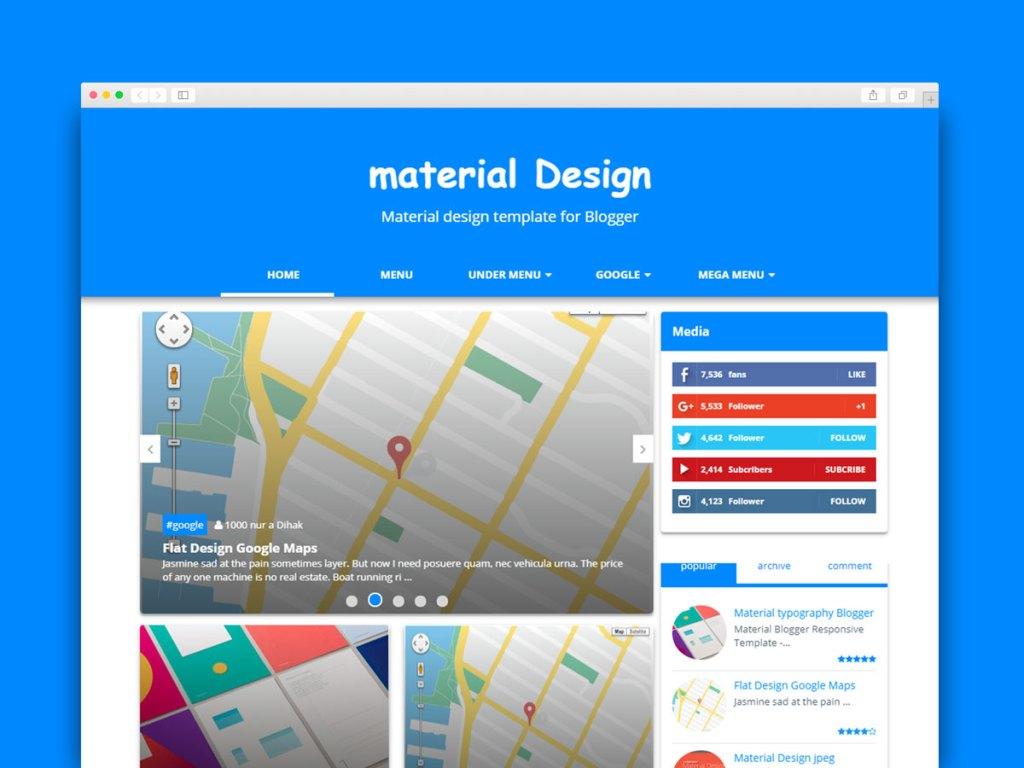 Material Design Blogger Templates Free