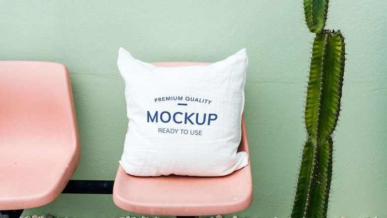 Mockup design space on cushion pillow - 295958