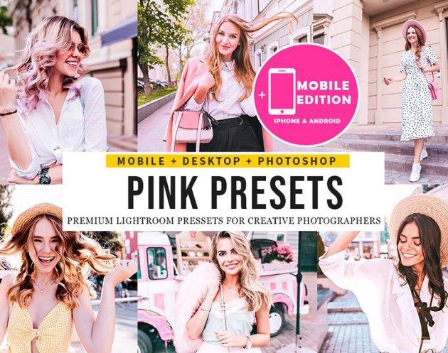 Pink Blogger Lightroom Presets 5123640