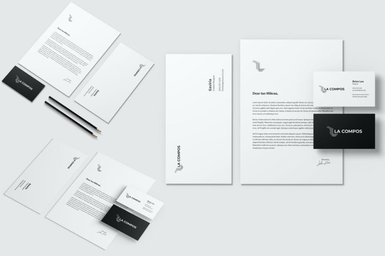 Stationery Brand Identity Mockup
