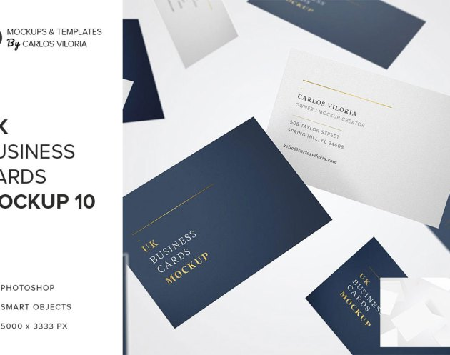 UK Business Cards Mockup 10
