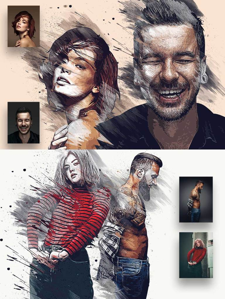 Vector Spatter Photoshop Action 27115313 1