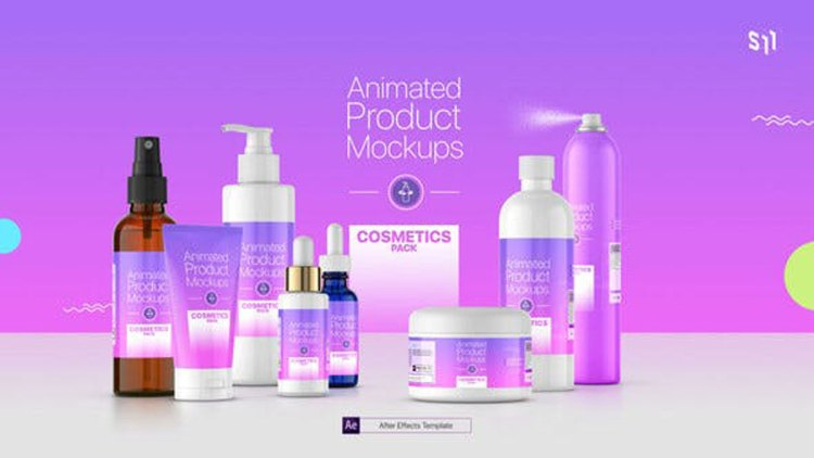 Videohive Animated Product Mockups Cosmetics Pack 25513188