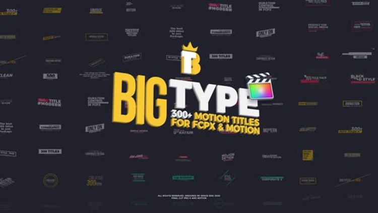 Videohive Big Type | 300 titles for FCPX 27096182