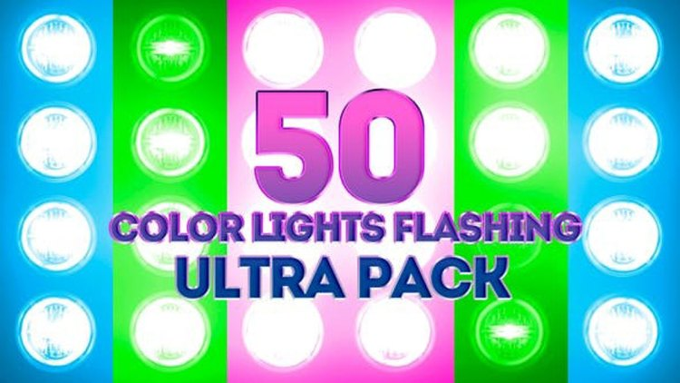 Videohive Color Lights Flashing Ultra Pack 23662301