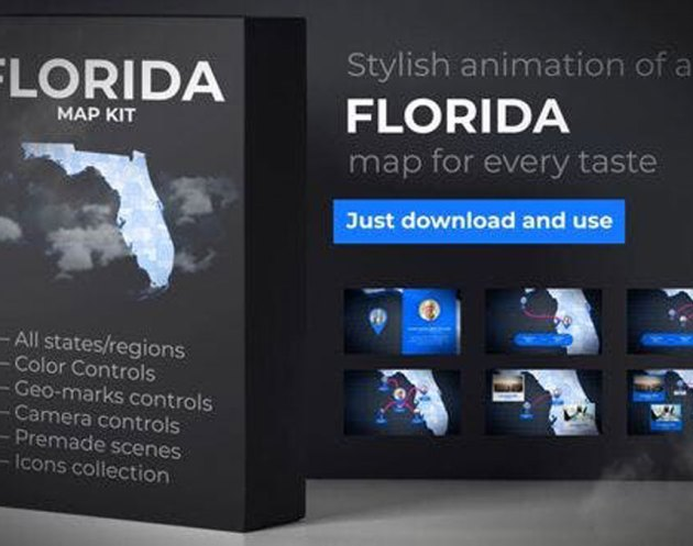 Videohive Florida Map Florida Map Kit 27817848