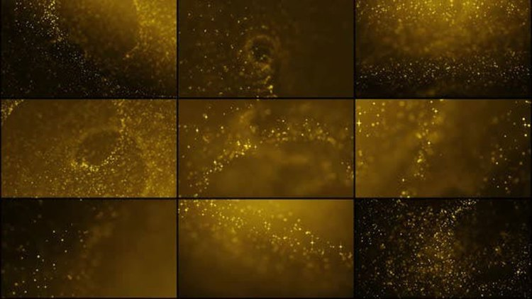 Videohive Golden Particles Pack 26434626