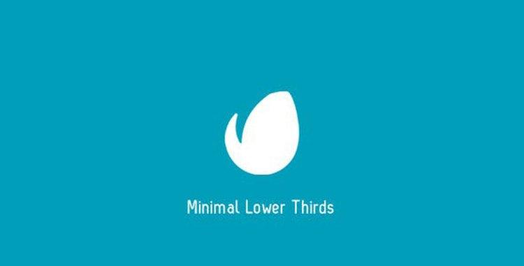 Videohive Minimal Lower Thirds 7087467