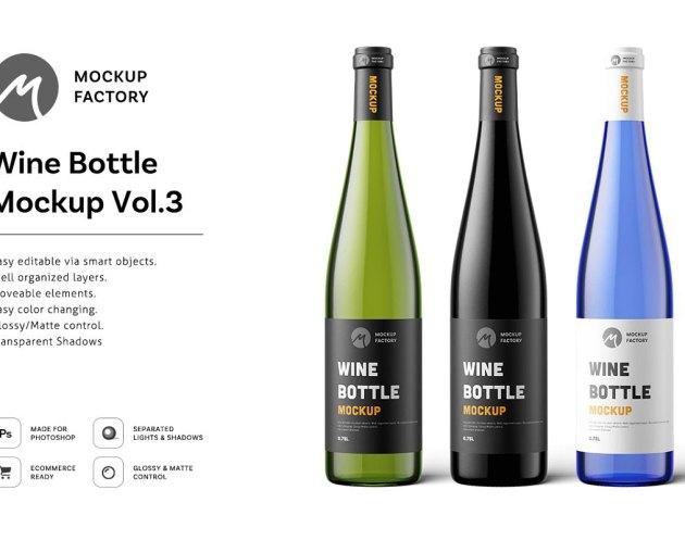 Wine Bottle Mockup Vol.3 4795148