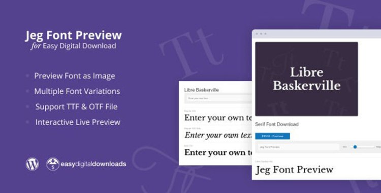 CodeCanyon - Jeg Font Preview v1.0.1 - Easy Digital Downloads Extension WordPress Plugin - 27730518