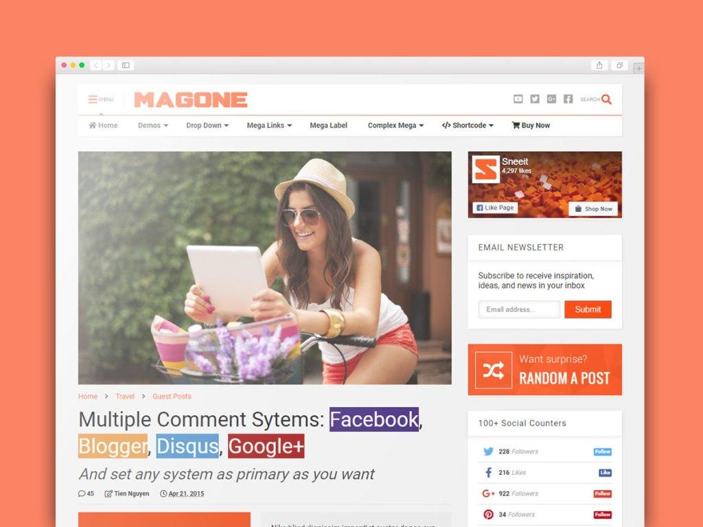 MagOne v6.7.8 Responsive Blogger Template