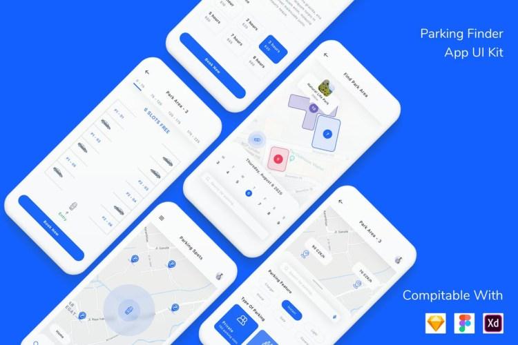 Parking Finder App UI Kit