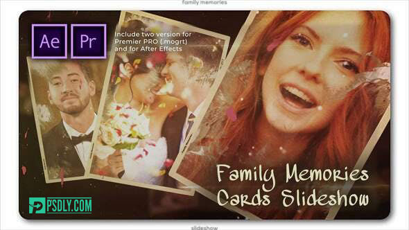 Videohive Family Memories Cards Slideshow 28253262