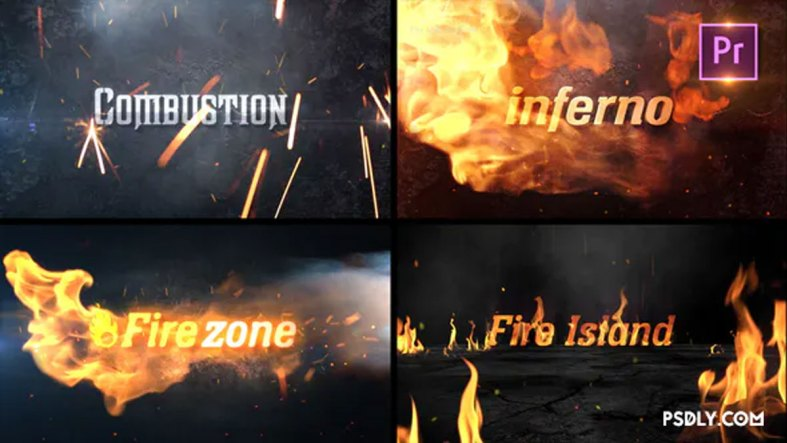 Videohive Fire Title Sting Pack Premiere PRO 27922848 Free Download