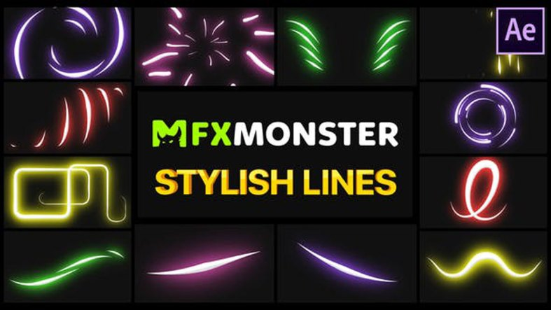 Videohive Stylish Lines After Effects 27989816