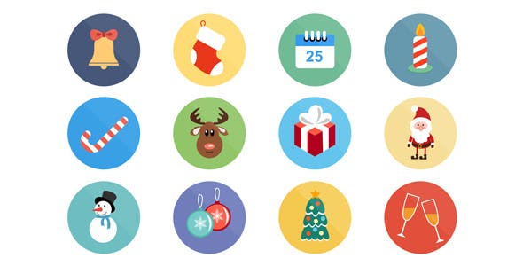 Videohive Christmas Icons 9748871