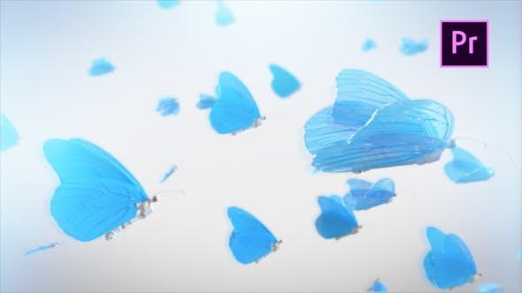 Videohive Butterfly Logo Reveal Premiere Pro 23000561