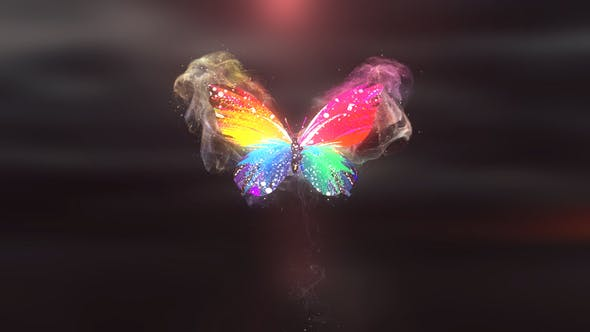 Videohive Colorful Butterfly Logo Reveal 4K 28927421