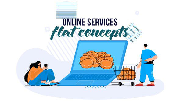 Videohive Online services Flat Concept 28830201