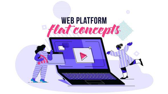 Videohive Web platform Flat Concept 28730472
