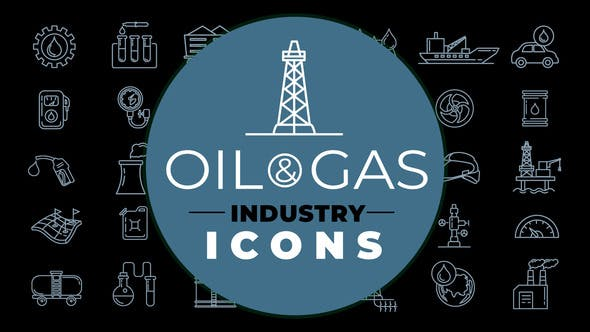 Videohive Oil & Gas Industry Icons 28463298