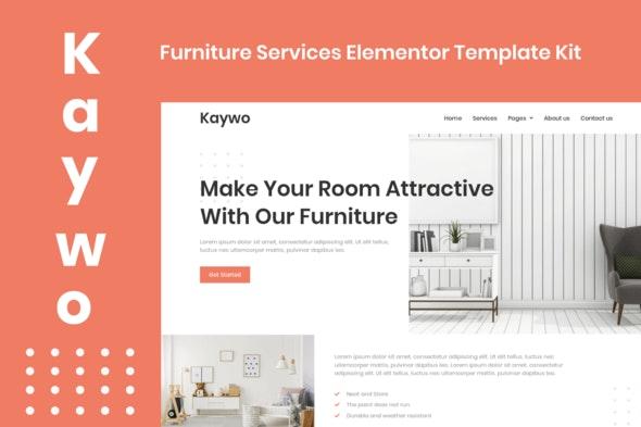 ThemeForest Kaywo v1.0 Furniture Services Elementor Template Kit 28979969
