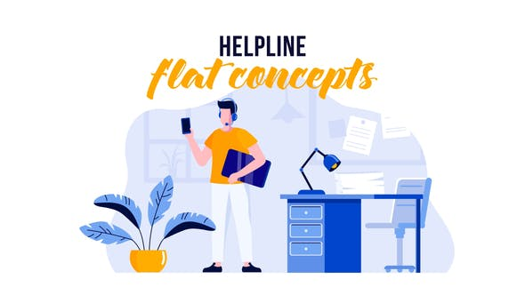 Videohive Helpline - Flat Concept 29529638