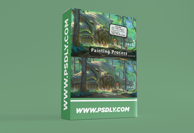 Round Brush Painting +Brush Tutorial Download