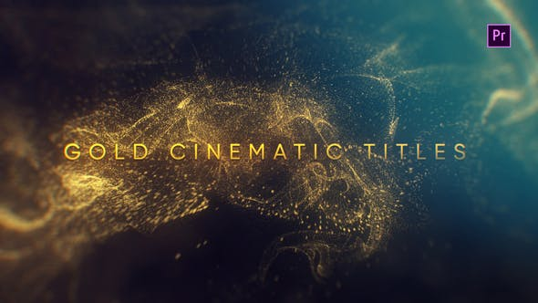 Videohive - Gold Cinematic Titles Mogrt - 23260042