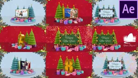 Videohive Christmas Countdown Opener 29789886