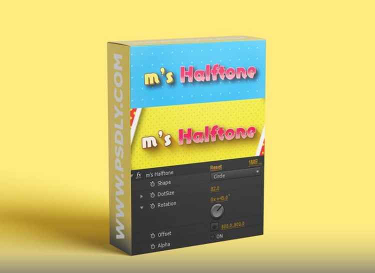 Aescripts m's HalfTone v1.44 Win/Mac