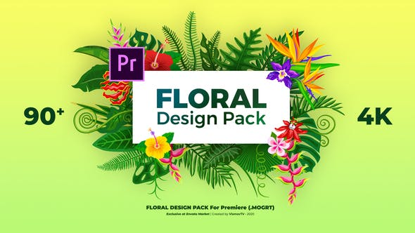 Videohive - Floral Design Pack - 29777274