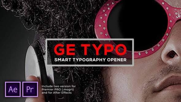 Videohive - The Typo Smart Opener - 29949200