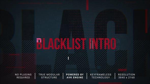 Videohive Blacklist Intro Slideshow 31198788