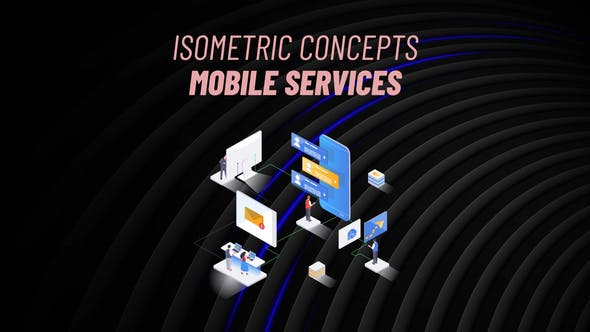 Videohive Mobile Services Isometric Concept 31223569